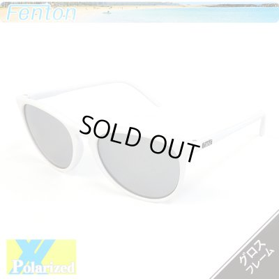画像1: White Gloss x Chrome Mirror Polarized 【偏光レンズ】