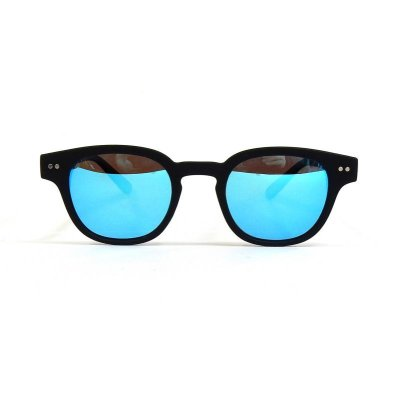 画像2: Black Soft x Sky Blue Mirror Polarized【偏光レンズ】